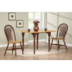 Sunset Trading Sunset Selections Collection DLU-TLD3448-820-NLO3PC 3 Piece Drop Leaf Dining Set with Rectangular Table + 2 Arrowback