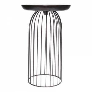 Moes Home Collection Aviary Collection QK-1019-31 Accent Table with Iron Frame in Brown