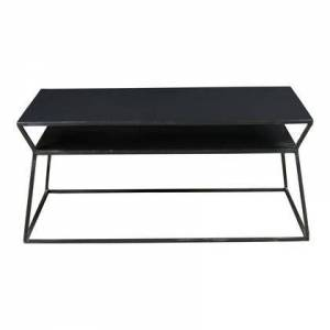 Moes Home Collection Osaka Collection DR-1179-02 Coffee Table with Iron Frame in Black