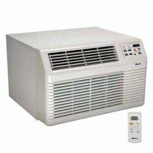 """Amana PBH092G12CC 26"""" Through-the-Wall Air Conditioner with 9 000 BTU Cooling  8 500 BTU Heat Pump with 3 900 BTU Back-Up Electric Heat  9.8 EER"""