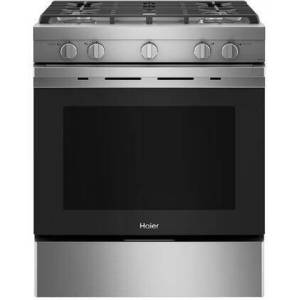 """HAIER QGSS740RNSS 30"""" Gas Freestanding Range with 5.6 cu. ft. Capacity  Convection  Steam Clean  Electronic Ignition System  Interior Lighting  Timer  in"""