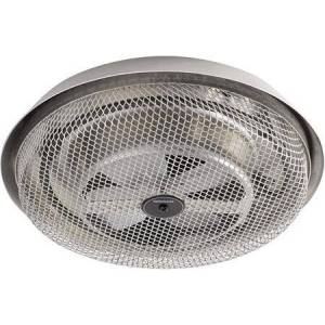 """157 11"""" Fan-Forced Ceiling Heater with 1200 Watts  Automatic Overheat Protection and Durable Aluminum Construction in"""