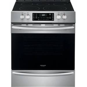 """Frigidaire FGEH3047VF 30"""" Gallery Series Electric Range with 5 Elements  5.4 cu. ft. Capacity Convection Oven  Steam and Self Cleaning  Air Fry Function  in"""