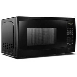 """Danby DBMW0720BBB 18"""" Black Microwave with 0.7 cu. ft. Capacity  700 Cooking Watts  10 Power Levels and Child"""
