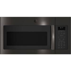 GE JVM6175BLTS Over-the-Range Microwave Oven with 1.7 cu. ft. Capacity  Two-speed 300-CFM Venting fan system  Sensor cooking controls  Weight and time