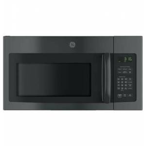 """GE JVM3162DJBB 30"""" Over-the-Range Microwave Oven with 1.6 cu. ft. Capacity  1000 W Power  Two-Speed 300 CFM Venting System  10 Power Levels  Auto and"""