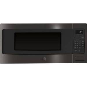 """GE Profile PEM31BMTS 24"""" 1.1 cu. ft. Capacity Built-In 800 Watt Microwave Oven  Sensor Cooking  Auto & Time Defrost  Turntable with On/Off  Control Lockout  in"""