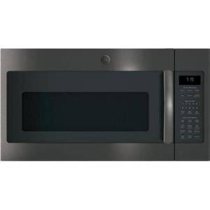"""GE JVM7195BLTS 30"""" Over-the-Range Microwave Oven with 1.9 cu. ft. Capacity  Four-speed 400-CFM Venting fan system  Sensor cooking controls  Weight and"""