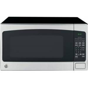"""GE JES2051SNSS 24"""" 2.0 Cu. Ft. Capacity  1200 Watt Countertop Microwave Oven  Auto and Time Defrost  16"""" Turntable  Electronic Touch Controls  in"""