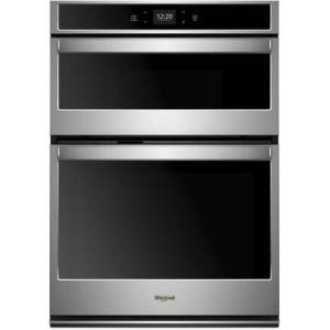 """Whirlpool WOC54EC7HS 27"""" Smart Combo Oven with 5.7 cu. ft. Capacity  Scan-to-Cook Technology  Sabbath Mode and Touch Screen Control in Stainless"""