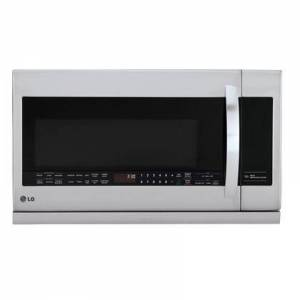 """LG LMHM2237ST 30"""" Over-the-Range Microwave Oven with 2.2 cu. ft.  400 CFM Venting System  Sensor Cooking  EasyClean  ExtendaVent  QuietPower Ventilation"""
