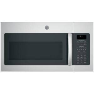 GE JVM6175YKFS Over-the-Range Microwave Oven with 1.7 cu. ft. Capacity  Two-speed 300-CFM Venting fan system  Sensor cooking controls  Weight and time