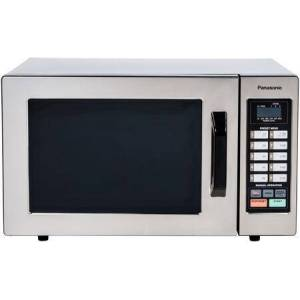 Panasonic NE-1054F Commercial Microwave Oven with .8 cu. ft. Capacity  1000 Watts  10 Programmable Memory/20 Memory Capability  6 Power Levels  in Stainless