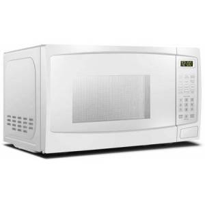"""Danby DBMW0720BWW 18"""" White Microwave with 0.7 cu. ft. Capacity  700 Cooking Watts  10 Power Levels and Child"""