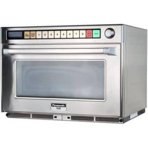 Panasonic NE-2180 Sonic Steamer Commercial Microwave Oven with 2100 Watts of Power  4 Magnetron Heating Elements  8 Programmable Memory Pads  3 Stage Cooking