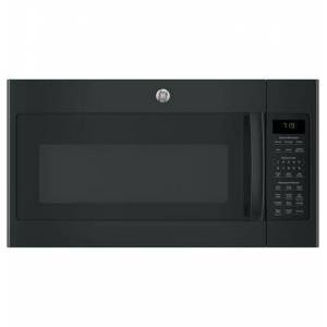 """GE JVM7195DKBB 30"""" Over-the-Range Microwave Oven with 1.9 cu. ft. Capacity  Four-speed 400-CFM Venting fan system  Sensor cooking controls  Weight and"""