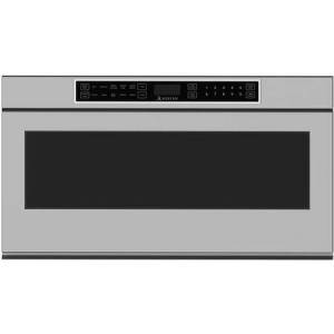 """Hestan KMWR30 30"""" Stainless Steel Drawer Microwave with 1.2 cu. ft. Capacity  950 Cooking Watts  Child Lock Safety and Interior"""