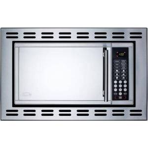 """Summit OTR24 24"""" 0.9 cu.ft. Capacity Built-in Microwave Oven  900 Watts  Multiple Power Levels  Cook Menu  and FCC and FDA Approved in Stainless"""