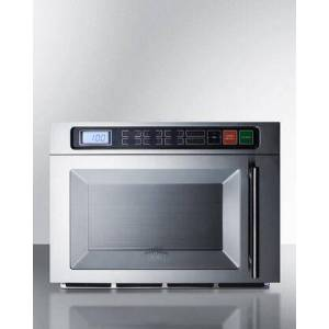 """Summit SCM1800M2 20"""" 1.1 Cu.Ft. Countertop Commercial Microwave with Digital Controls  Multi-stage Cooking  10 Power Levels and Dual Magnetron Design in"""