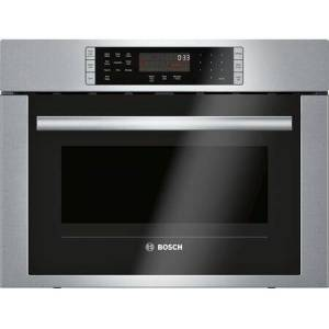 """Bosch HMC54151UC 24"""" 500 Series  Electric Single Wall Speed Oven with 1 Oven Rack Convection and 1.6 cu. ft. Capacity  Stainless Steel Cavity  9 SpeedChef"""