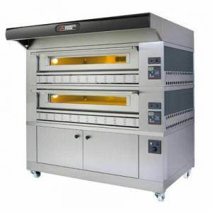 """Moretti Forni P150G A3 Gas Pizza Oven 58"""" x 34"""" x 7"""" (Chamber) - 3 Decks with Enclosed Base  in"""