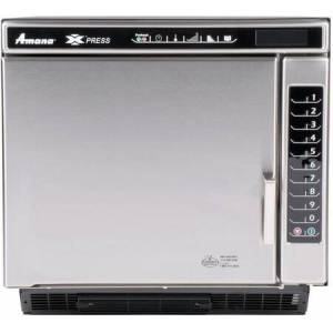 """Amana ACE14V 20"""" Commercial Xpress High Speed Combination Countertop Oven with Convection  1400 Watts  Catalytic Converter  1.2 cu. ft. Capacity  11 Power"""