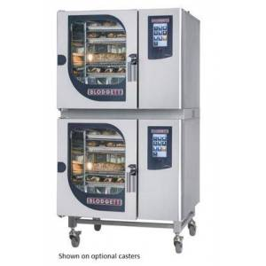 Blodgett BLCT6161E Double Stack Electric Boilerless Combination-Oven/Steamer with Touchscreen Control  Multiple modes  Self cleaning system. Capacity: 10