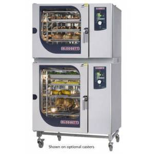 Blodgett BCM62102E Double Stack Electric Boiler based Combination-Oven/Steamer with Dial and Digital controls  Reversible 9 speed fan  Up to 50 recipe
