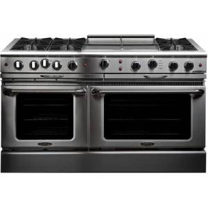 """Capital CGSR604GG2-N 60"""" Culinarian Series Freestanding Natural Gas Range with 8 cu. ft. Total Oven Capacity  24"""" Griddle  and 6 Burners  in Stainless"""