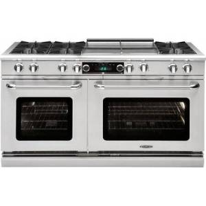 """Capital COB604GG2-N 60"""" Connoisseurian Series Freestanding Natural Gas Dual Fuel Range with 9 cu. ft. Total Oven Capacity  6 Open Burners  and 24"""" Griddle"""