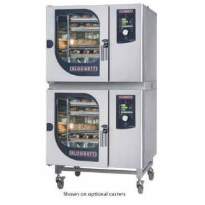 Blodgett BLCM6161E Double Stack Electric Boilerless Combination-Oven/Steamer with Dial and Digital controls  Reversible 9 speed fan  Up to 50 recipe programs
