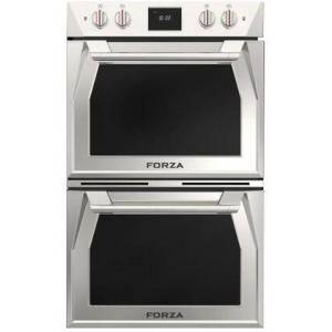 """Forza FODP30S 30"""" Double Dual Convection Electric Wall Oven with 8.8 cu. ft. Total Capacity  5.7"""" TFT Display with Electronic Control  Self-Cleaning"""