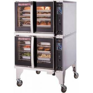 """Blodgett HVH-100G DBL 39"""" HydroVection Series Energy Star Gas Oven with Helix Technology  Steam and Convection Heating  Cavity Drain and Stainless Steel"""