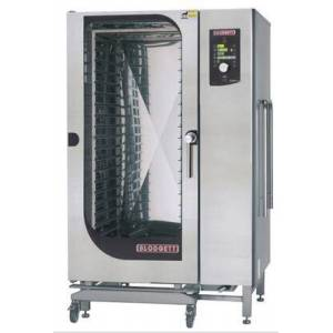 Blodgett BCM202E Roll-In Electric Boiler based Combination-Oven/Steamer with Dial and Digital controls  Reversible 9 speed fan  Up to 50 recipe programs with