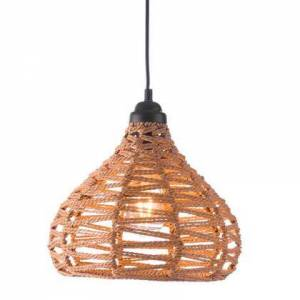 """HomeRoots 249411 11.8"""" X 11.8"""" X 129.5"""" Synthetic Woven Painted Metal Ceiling Lamp in"""