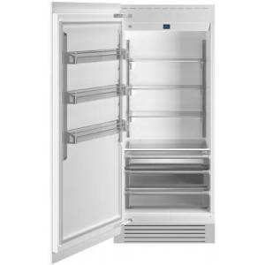"""Bertazzoni REF36RCPRL 36"""" Built In Column Refrigerator with 21.54 cu. ft. Capacity  White Aluminum Interior  Intuitive Digital Touch Controls  Left and Swing"""