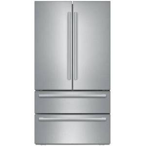 """Bosch B21CL81SNS 36"""" Counter Depth French Door Refrigerator with 20.7 cu. ft. Capacity  2-Drawer Freezer  Full Width Chiller and Dual AirCool System  in"""