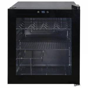 """Avanti WBC16Z1BIS 17"""" Black Dual Purpose Beverage Center with 1.6 cu. ft. Capacity  up to 15 Wine Bottle or 45 Cans  Frameless Glass"""
