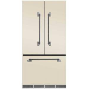 """AGA MELFDR23IVY 36"""" Elise  Counter Depth French Door Refrigerator With Storage Drawer  12 Temperature Settings  22.2 cu. ft. Capacity  Adjustable Glass"""