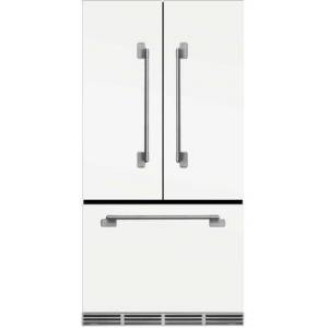 """AGA MELFDR23-SND 36"""" Elise Counter Depth French Door Refrigerator With Storage Drawer  12 Temperature Settings  22.2 cu. ft. Capacity  Adjustable Glass"""