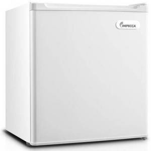 """Impecca RC-1176W 18"""" Energy Star Rated Compact Refrigerator with 1.7 cu. ft. Total Capacity  1 Wire Shelf  Half Width Chiller Compartment and Reversible Door"""