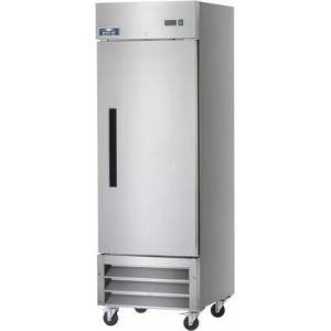"""Arctic AR23 27"""" Reach-In Refrigerator with 23 cu. ft. Capacity  3 Shelves  1 Doors  3/8 HP  in Stainless"""