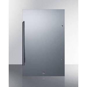 """Summit SPR196OS 19"""" Outdoor Compact Refrigerator with 3.13 cu. ft. Capacity  Commercially Approved  Energy Star  Automatic Defrost  Factory Installed Lock"""