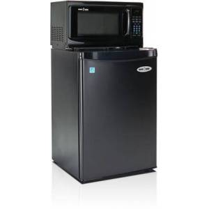 MicroFridge 2.6SM4-7A1 Snackmate Series 2.6 Cu. Ft. Freestanding Compact Refrigerator with 700 Watt Microwave  LED Timer/Clock  CanStor Beverage Dispenser  2