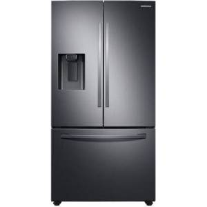 """Samsung RF27T5201SG 36"""" Black Stainless Steel French Door Refrigerator with 27 cu. ft. Total Capacity  External Ice and Water Dispenser  Energy Star  EZ Open"""
