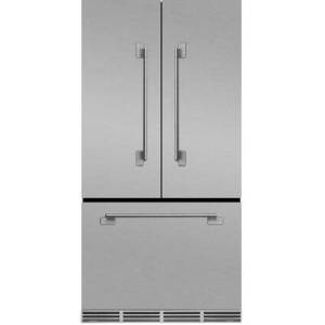 """AGA MELFDR23SS 36"""" Elise  Counter Depth French Door Refrigerator With Storage Drawer  12 Temperature Settings  22.2 cu. ft. Capacity  Adjustable Glass"""