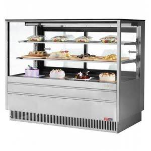 """Turbo Air TCGB-60UF-S-N 60"""" European Straight Front Bakery Display Case with 19.4 cu. ft. Capacity  Self Cleaning Condenser  Hydrocarbon Refrigerants and"""
