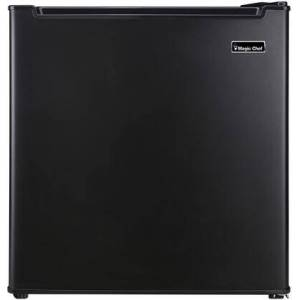 """Magic Chef MCR170BE 18"""" Mini Refrigerator with 1.7 cu. ft. Capacity  Manual Defrost  Freezer Compartment  Wire Shelf and Reversible Door in"""
