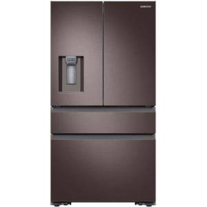 """Samsung RF23M8070DT 36"""" Counter-Depth French Door Refrigerator with 22.7 cu. ft. Capacity  FlexZone  Exernal Ice and Water Dispenser  and Auto Water Fill  in"""