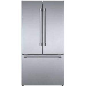"""Bosch B36CT81SNS 36"""" French Door Refrigerator with 20.8 cu. ft. Capacity  FarmFresh System  VitaFreshPro  LED Lighting and MultiAirFlow  Wi-Fi Enabled  5"""